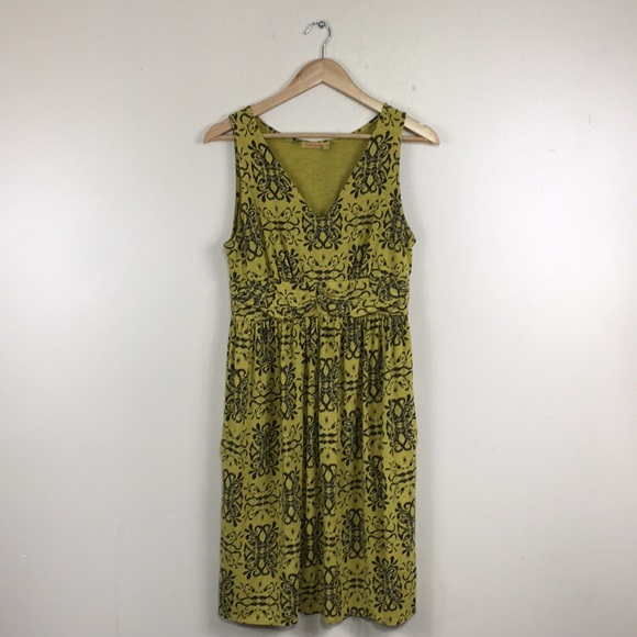 fresh produce Dresses & Skirts - Fresh Produce Yellow V-Neck Comfy Sleeveless Dress